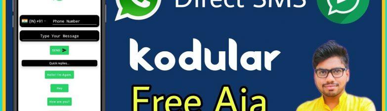 Direct Sending Sms In Whatsapp