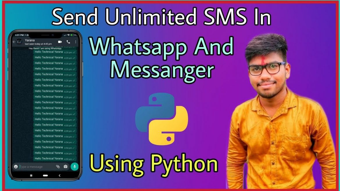 How To Send Automatically Unlimited Sms In Whatsapp And Messenger | Robot Kaise Banaye Sending Sms